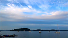 Bar Harbor at Dusk (Timothy Valentine) Tags: 0819 clichésaturday fbpost vacation sky camera2 2019 maine barharbor unitedstatesofamerica