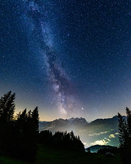 Below the stars (ramvogel) Tags: sony a6300 samyang samyang8mmf28 milkyway night nightsky longexposure switzerland schweiz hasliberg fisheye galaxy nature