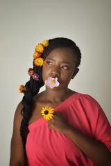 livia (287)l-01 (Neal J.Wilson) Tags: portrait portraits african africa flowers yellow pink women