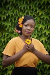 livia (140)-01 (Neal J.Wilson) Tags: portrait portraits african africa flowers yellow pink women