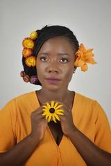 livia (91)-01 (Neal J.Wilson) Tags: portrait portraits african africa flowers yellow pink women