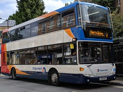 Stagecoach Scania Omnicity (Scania N230UD) 15074 LX09 AEY (Alex S. Transport Photography) Tags: bus outdoor road vehicle stagecoacheast stagecoachcambus stagecoach scania omnicity n230ud route3 15074 lx09aey