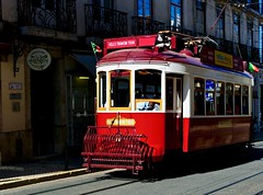 Old Electrical trams converted to tourism purpose (pedrosimoes7) Tags: trams electicaltrams hillstramcartours tourism tourists lisboanarua lisboa lisbonne rdaconceição lisbon portugal red rouge rosso vermelho