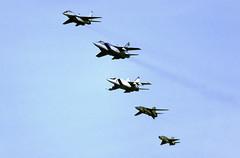 MiGs on parade (Rob Schleiffert) Tags: zhukovsky russianairforce mig21 mig23 mig25 mig29 mig31 mig
