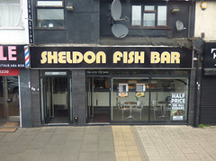 Sheldon Fish Bar - 2232 Coventry Road, Sheldon (ell brown) Tags: sheldon birmingham westmidlands england unitedkingdom greatbritain coventryrd coventryrdsheldon tree trees bus x1 nxwm nationalexpresswestmidlands nationalexpresswestmidlandsplatinum sheldonfishbar fishchips chipshop 2232coventryrd