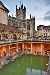Bath Abbey & the Roman Baths (Nige H (Thanks for 25m views)) Tags: city cityscape bath cityofbath england abbey romanbaths baths history historicbuildings