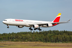 EC-IOB Airbus A340-642 Iberia (Andreas Eriksson - VstPic) Tags: eciob airbus a340642 iberia 2906 from madrid carrying cruise passengers