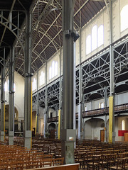 Eglise Notre-Dame-du-Travail (michelle@c) Tags: architecture church interior space steel frame decor stencil paint 1900 notredamedutravail parisxiv 2019 ©michellecourteau