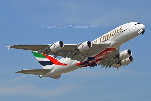 Emirates Airlines A6-EVA Airbus A380-842 cn/167 @ EGKK / LGW 28-05-2018