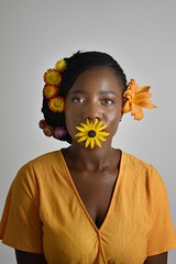 livia (105)-01 (Neal J.Wilson) Tags: portrait portraits african africa flowers yellow pink women