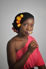 livia (184)l-01 (Neal J.Wilson) Tags: portrait portraits african africa flowers yellow pink women