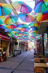 Umbrella street (Dumby) Tags: street canakkale turkey umbrellastreet urban city travel