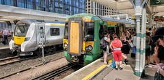Busy Time at East Croydon Railway Station. (ManOfYorkshire) Tags: 700104 class700 class377 377454 bombardier siemens thameslink trains train multiple unit units emu electric railway station eastcroydon london platform hot disruption chavs thirdrail southern govia