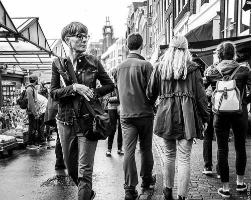 Passing Through a Street Market in Amsterdam