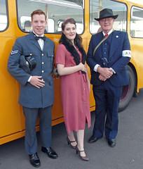 1940s Re-enactors. Scotland. (Adrian Walker.) Tags: elements 1940s reenactments bkr raf costume reenactors scotland 1940ess