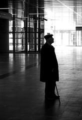 Waiting (CoolMcFlash) Tags: person man bnw bw blackandwhite waiting silhouette candid street streetphotography vienna mann sw schwarzweis warten kontur wien fotografie photography canon eos 60d tamron a007 2470