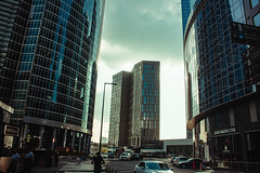 Moscow city (vasic.vaskee) Tags: moscowcity building sunset reflection glass