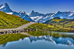 Let's go see an Alpine Paradise. The Bachalpsee panorama. Grindelwald, Canton of Bern, Switzerland.26.08.19, 13:03:17. No. 91. (Izakigur) Tags: berneroberland alps alpen alpes alpene acqua alpi grindelwald wasser lac 2019 thelittleprince lasuisse laventuresuisse liberty reflection myswitzerland musictomyeyes luz lumière light licht ضوء אור प्रकाश ライト lux światło свет ışık ליכט nikon nikond810 switzerland svizzera lepetitprince ilpiccoloprincipe helvetia izakigur flickr feel europe europa dieschweiz ch nikkor suiza suisse suisia schweiz suizo swiss سويسرا landscape schwyz suïssa trift bachalpsee anitarachvelishvili jonaskaufman