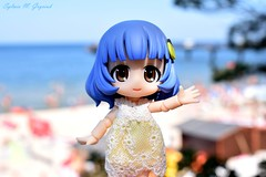 Bluebelle at the seaside (BookSmellLover) Tags: cupochebelle japan anime figurine cute kawaii poseable