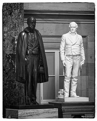 Hanibal Hamlin and Daniel Webster (Bob Shrader) Tags: olympuspenf olympusmzuikodigitaled12100mmf40ispro 50mm f8 180sec 12800iso raw microfourthirds mft m43 mirrorless architecture structure building government uscapitol nationalstatuaryhall sculpture statue hannibalhamlin danielwebster sculptor carlconrads charlesetefft northamerica unitedstatesofamerica america us unitedstates usa washingtondc districtofcolumbia penf zoomlens mzuiko12100mmf40ispro olympusmzd12100mmf40ispro interior dxo dxophotolab on1 photoraw2019 blackwhite midnight blackandwhite bw monochrome fauxfilm monotone photoborder photoedge photoframe postprocessing preset