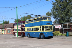 Trolley buses 204 / 113 Sandtoft 25 Aug 19 (doughnut14) Tags: trolleybus museum sandtoft reading southshields 113 204 cum karrier weymann