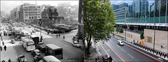 Farringdon Street`1955-2019 (roll the dice) Tags: london city ec4 holborn farringdon old local history retro bygone streetfurniture architecture people fashion travel transport view mad sad surreal changes collection comparison nostalgia oldandnew pastandpresent hereandnow urban england uk classic investmentbank vanished rubble demolished new light bombsite gap canon tourism tourists bicycle trees rush bored telephoneexchange valliant chaos rail fleet ludgate taxi coach bus