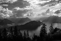Kazeli Point (Ann Kunz) Tags: blackandwhite hiking switzerland mntrigi travel europe alps light clouds lakelucerne kazelipoint