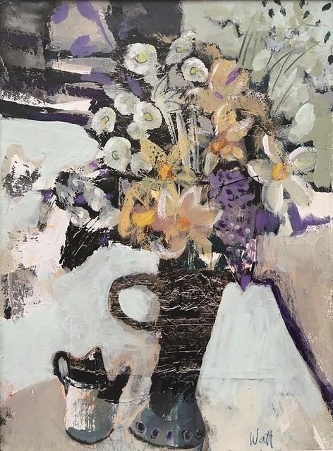 Watt Jacqueline 'Spring Hedgerow with Black Jug'