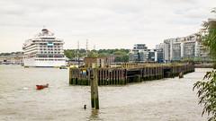 River Thames, London, England, UK (godrick) Tags: greenwich cruise ship england gb london cruiseship liner uk riverthames gbr vikingsun