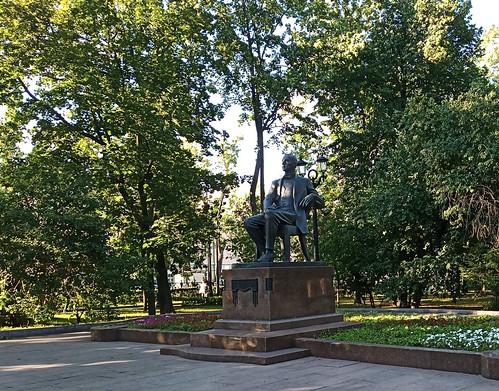 Anillo del Boulevard. Monumento a Rachmaninov. Moscú. Rusia