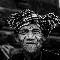 Old man in Myanmar (ravalli1) Tags: burma myanmar portrait people southeastasia blackandwhite ritratto streetphotography bagan travel vacations