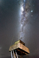 Piha lifeguard tower NZ (SunThroughEyelids) Tags: astro astrophotography adventure ambient awesome amazing a7ii auckland a7iii nature north night newzealand nz niftyfew nn naturephotography nightsky new zealand art aqua dark glow photography photograph photo shadows mystical mysterious red reflection pretty exposure white light incredible