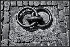 Infinite (J-o-h-n---E) Tags: denmark copenhagen bw monochrome rings infinite infinity dockside dock harbour ironrings