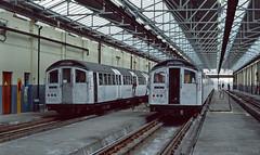 1962 stock units 1476 and 1605 at Ruislip Depot. London. (Marra Man) Tags: londontransport 1962stock type1962stock 1476 1605 ruislipdepot