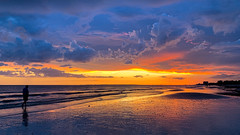 GulfCoastSunset_Ann-Kunz (Ann Kunz) Tags: sunset gulfcoast florida fortmyersbeach landscape ocean beach clouds sky people travel reflection light