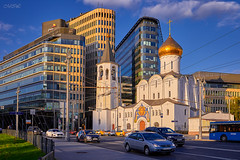 _MG_0934_ (Mikhail Lukyanov) Tags: russia moscow city street traffic cars architecture buildings church temple summer sky clouds evening
