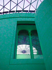 Green Windows (Steve Taylor (Photography)) Tags: architecture digitalart museum window green teal concrete glass uk gb england greatbritain unitedkingdom london britishmuseum