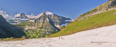 Hiking Highline (Valley Imagery) Tags: glacier national park snow ice hikers highline trail mountains usa stitched landscape panorama sony a99ii 70400gii slik tripod 700dx amt