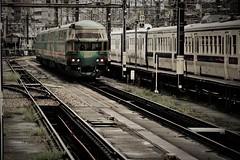 this morning (Sat Sue) Tags: olympus penf micro four thirds station train railway railroad takeshita yufuinnomori