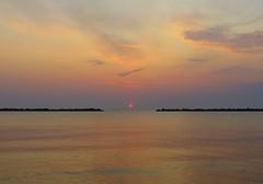 IMG_0022x (gzammarchi) Tags: italia paesaggio natura mare ravenna lidoadriano alba sole nuvola riflesso