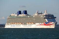 Britannia (John Ambler) Tags: po cruise ship britannia heading solent from southampton water john ambler johnambler marine maritime photography photographs photo sea