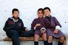 After School (nae2409) Tags: children student wall uniform bhutan canon
