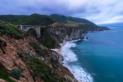 Bixby Bridge (TierraCosmos) Tags: bigsur bixbybridge bridge coast seascape ocean sea beach cliff fog clouds california dusk bluehour bestshotoftheday