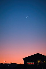 New Moon From Tri-Valley (tourtrophy) Tags: trivalley sunset bluehour pleasanton sonyrx100m7 moon crescentmoon newmoon