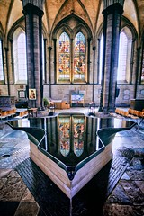 Salisbury Cathedral Font (khrawlings) Tags: salisbury cathedral font church england williampye reflection window