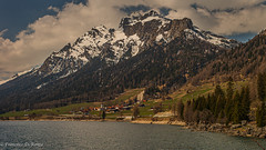 spring on the artifical lake of Sufers 3.)1904-4345 (dironzafrancesco) Tags: mountainlandscape tamron landscape landschaft nature wasser slta99v outdoor lake imfreien natur berglandschaft reise travel tamronsp2470mmf28diusd see sony schnee water sufers kantongraubünden schweiz
