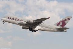 A7-APC (Baz Aviation Photo's) Tags: a7apc airbus a380861 qatar airways heathrow runway 27l qr10 doha doh qtr qr egll lhr
