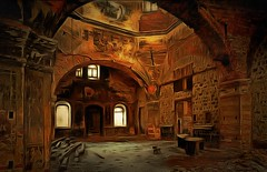 Abandoned church 1 (V_Dagaev) Tags: church building art architecture visualdelights digital dynamicautopainter painterly painting painter paintingsfromphotos paint