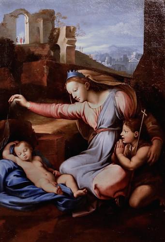 IMG_1412A X d'après Rapahël (Raffaello Sanzio)  1483-1520  Rome La Vierge au diadème bleu The Virgin with a blue diadem (18è- 19?)  Cherbourg Musée des Beaux Arts Thomas Henry