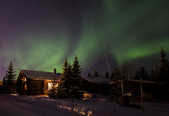 Northern lights (liuskaa) Tags: aurora borealis northern lights night winter light snow cold finland holiday home cottage